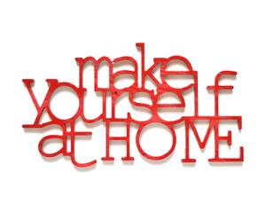 Letras decorativas Make yourself at home - rojo