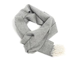 Bufanda de alpaca Warm, gris y blanco – 30x180cm