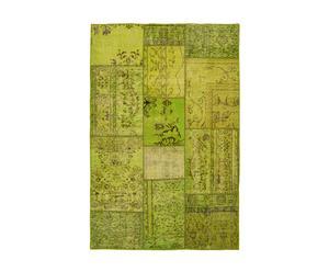 Alfombra Patchwork, verde – 141x200