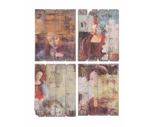 Set de 4 cuadros - Señoras
