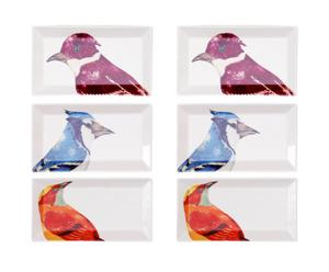 Set de 4 platos - Pájaros