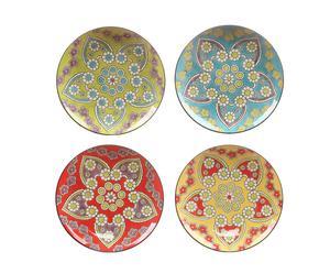 Set de 4 platos de gres