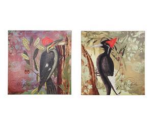 Set de 2 lonas con pájaros