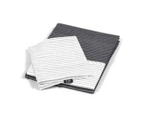 Funda nórdica 150x210 y funda de almohada 50x60 – rayas blanco y negro