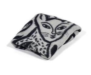 Manta Cat – blanco y negro