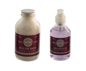 Sales de ducha + Gel de ducha – Lavanda