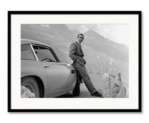 Fotografía enmarcada Aston Martin - blanco y negro