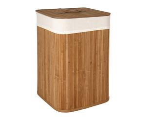 Cesto plegable de ropa de bambú – Natural