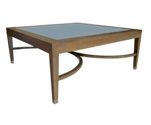 Mesa centro con panel gris