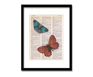 Lámina mariposas naranja y azul