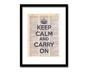 Lámina Keep Calm and Carry On
