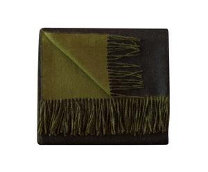 Couverture baby alpaga classic, noir et olive - 130*180