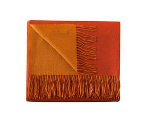 Couverture baby alpaga classic, orange et rouille - 130*180