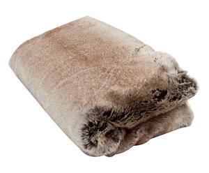 Couverture castor, brun et gris – 130*170