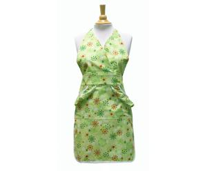 Tablier coton biologique, vert lime - 48*81