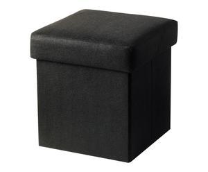 Pouf de rangement Feutre, Noir - H32