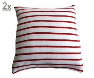 2 Housses de coussin Bergen coton, rouge – 50*50
