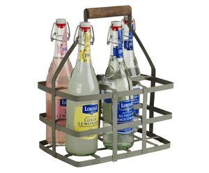 Casier à bouteilles, zinc - 6 Bouteilles