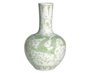 Vase Dragon Lotus, porcelaine – H53