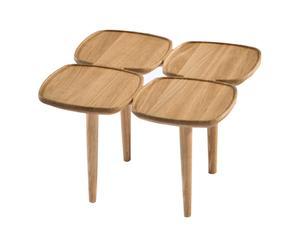 Table basse carrée, chêne – L50