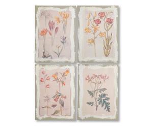 4 Plaques décoratives, Multicolore - L50