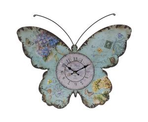 Horloge papillon, Bleu - L59