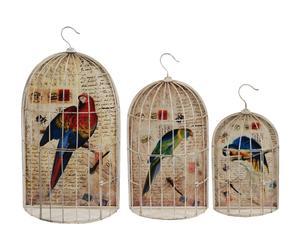 3 Cages, Multicolore - Métal