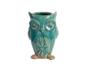 Cache-pot Hibou Céramique, Bleu - L11