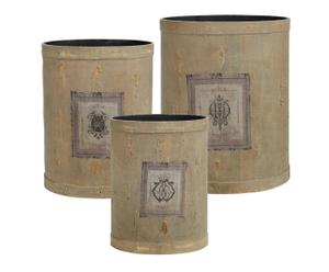 3 Cache-pots, coton - Gris