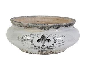 Pot Céramique, Noir et blanc -  Ø27