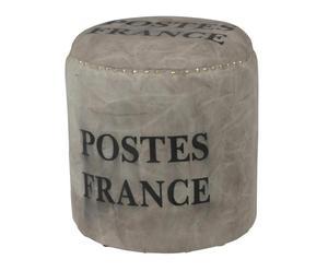 Pouf FRANCE, Toile - Ø43