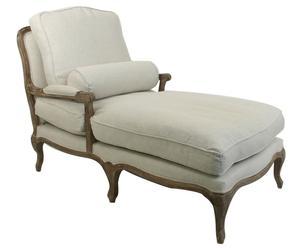 Chaise longue Chloé, Crème