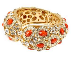 Bracelet Culver, Doré et Corail - L7