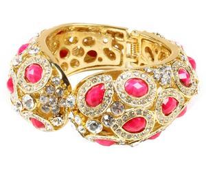 Bracelet Cannes, Doré et Rose - L7