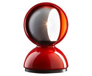 Lampe à poser Eclisse, Rouge et blanc – H18
