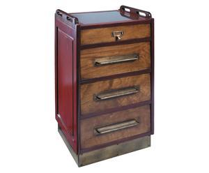 Cabinet à roulettes Wheels, Cerisier - H82