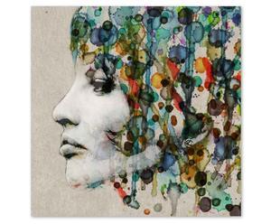 Impression numérique Hair Verre acrylique, Multicolore - 80*80