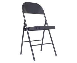 Chaise pliante Fer, Noir - L40