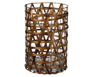 Lanterne bambou, brun - Ø22