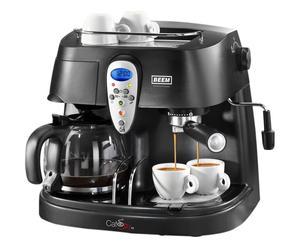 Machine à café MUMBAI Plastique et métal, Noir - 1.2 L