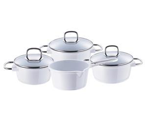 Batterie de cuisine, aluminium et céramique – 7 pièces