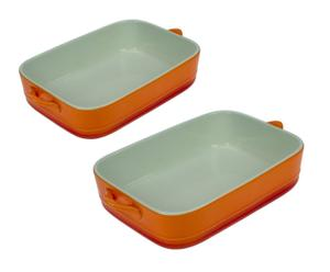 2 Plats, Porcelaine - Orange