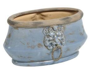 2 Cache-pots Céramique, Bleu - L28