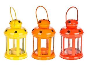 3 Lanternes à suspendre, métal et verre - H15