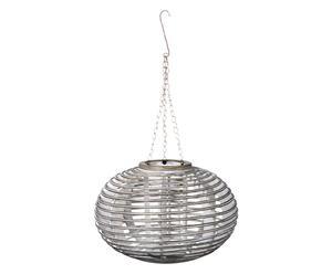 Lanterne, Bambou et verre - H25