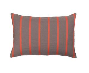 Housse de coussin Coton, Gris et rouge - 60*40