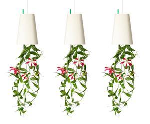 3 Pots de fleurs Sky Planter Papier et plastique recyclé, Blanc - Ø11