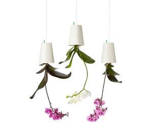 3 Pots à fleurs à suspendre Plastique, Blanc - H13