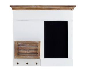 Tableau-mémo mural paulownia, Blanc, naturel et noir - L68
