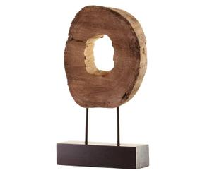 Sculpture décorative Bois et métal, Naturel et marron - H47